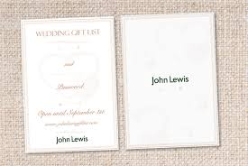 wedding gift list briefbox wedding gift list card for lewis by felicity lloyd