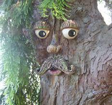 tree face mr tree face garden ornament sculpture statue outdoor