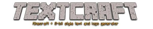 textcraft text u0026 logo maker minecraft 8 bit styles and more