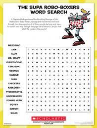 the supa robo boxers word search parents scholastic com