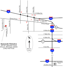 Detroit Metro Airport Map Area Hotels Training Kawasaki Robotics