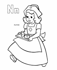 abc alphabet coloring sheets nurse honkingdonkey
