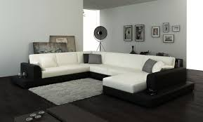Large Sofa Sectionals by 2616 Modern White Fabric Sectional Sofa