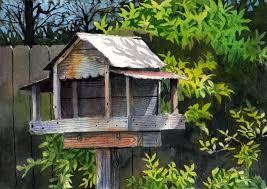 backyard bird feeder jeff atnip art paintings u0026 prints