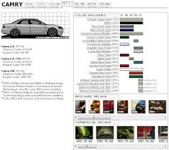 toyota camry touchup paint codes image galleries brochure and tv