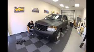 black nissan armada nissan armada matte black 3m vinyl wrap by florida car wrap for