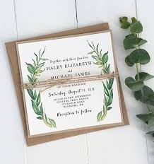 wedding invitations greenery greenery wedding invitations woods and fairy