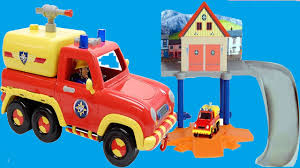 fireman sam toys playset rescue fire station vehicle fire engine