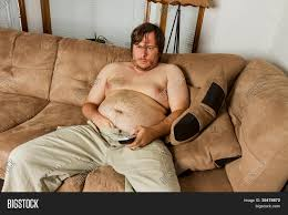 Fat Couch Potatoes Fat Guy Laying On The Couch Stock Photo U0026 Stock Images Bigstock