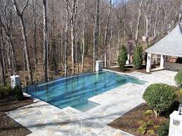 Infinity Pool Backyard by Traditional Swimming Pool With Infinity Pool U0026 Gazebo In Atlanta