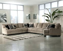 oversized sectional with chaise and ottoman sofa chenille fabric