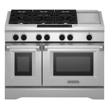 kitchenaid commercial style 48 in 6 3 cu ft slide in double