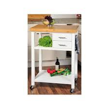 desserte de cuisine en bois blanc avec roulettes meuble de cuisine