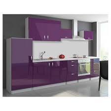 cuisine en kit 320 cm oxin aubergine violet laqué achat vente