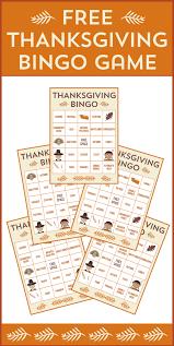 free printable thanksgiving bingo cards activities
