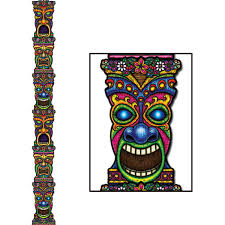 amazon com jointed tiki totem pole party accessory 1 count 1