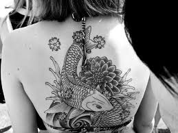 60 unique koi fish tattoos on back