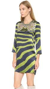 just cavalli zebra print dress lime green in green lyst