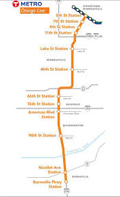 Metro Orange Line Map by Sun Current County Dispute Puts Metro Transit U0027s Orange Line At Risk