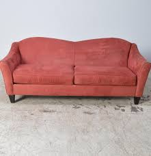 Leather Camelback Sofa by Contemporary Red Microfiber Camelback Sofa By Bauhaus Furniture Ebth
