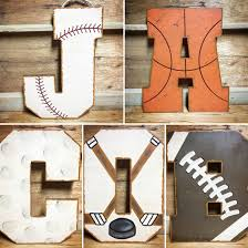 Letter Decorations For Nursery Sports Themed Wall Letters For Nursery Or Room Nursery Kid