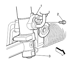 repair instructions power steering gear inlet and outlet hose