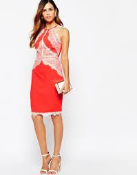 lipsy michelle keegan loves high neck lace applique pencil dress