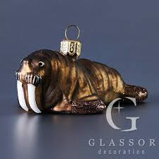 walrus christmas ornament glass christmas ornaments and ornaments