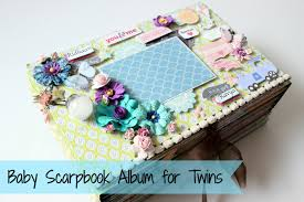 Photo Albums For Babies Baby Scrapbook Album For Twin Babies Big Size Paper Crafts
