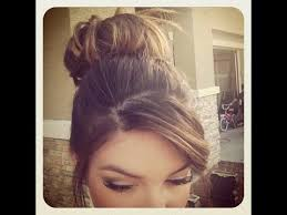 side buns for shoulder length fine hair how to messy bun for short thin hair youtube