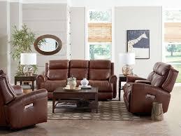 Power Leather Reclining Sofa by Bassett Marquee Umber Leather Power Reclining Sofa With Power