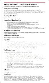 Power Resume Sample by Management Accountant Cv Sample Myperfectcv