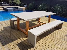 Concrete Table And Benches Bench Outdoor Concrete Bench Foundation Bench Outdoor