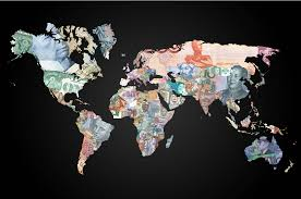 this gorgeous map shows every currency around the world business