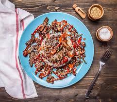 cuisine avec du riz le canard de rôti avec du riz cuisine asiatique a présenté un