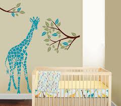 Giraffe Nursery Decor Tree Giraffe Decal Vinyl Wall Decal Baby Nursery Room Decals Trees