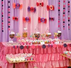 tablecloths decoration ideas decorations charming pink kids party decor ideas with pink