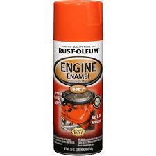 rust oleum automotive 12 oz engine enamel gloss chevy orange