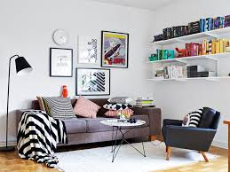 perfect small space scandinavian living room with floating
