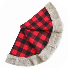 free shipping large 36 50 tree skirt plaid with