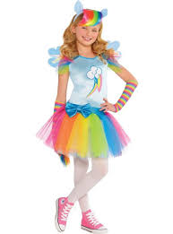 Halloween Costumes Boys Party Girls Rainbow Dash Costume Pony Party Parties