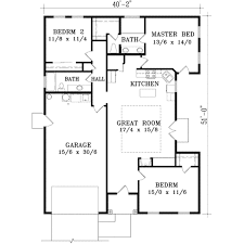 2 Story Great Room Floor Plans by Adobe Southwestern Style House Plan 3 Beds 2 00 Baths 1405 Sq