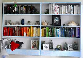 50 blue bookcase
