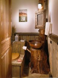 Rustic Bathroom Ideas Wooden Bowl Sink Ideas For Rustic Bathroom Ideas With Stylish