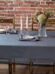 luxurious linen jacquard tablecloth charcoal linens u0026 kitchen