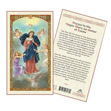 prayer cards untier of knots laminated prayer card the catholic