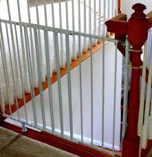 Baby Gates For Bottom Of Stairs With Banister Installing A Baby Gate Without Drilling Into A Banister Insourcelife