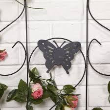 amagabeli wrought iron rose plant trellis black metal trellis iron