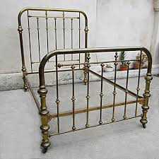 vintage brass bed two inch tubing on casters size full inside