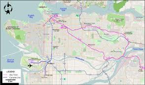 vancouver skytrain map vancouver 2009